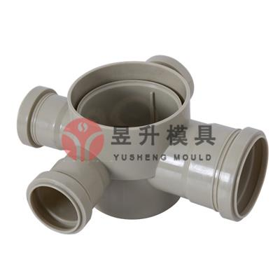 Plastic collapsible pipe fitting mold